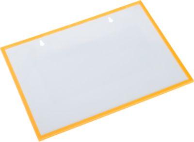 Formular-/Dokumententasche, magnethaftend, 10 Stück, gelb
