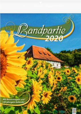Fotokalender 2019 LANDPARTIE, Format 245 x 345 mm, Natur, Sinnsprüche & Weisheiten, Werbedruck 245 x 40 mm