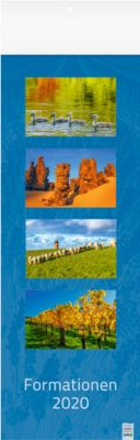 Fotokalender 2020 FORMATIONEN, Format 155 x 485 mm, Natur, Landschaft & Tiere, Werbedruck 155 x 60 mm