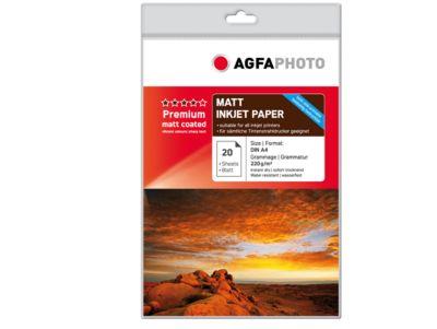 Fotopapier AgfaPhoto Premium Photo Matt, 20 Blatt, DIN A4, Duplex-Druck