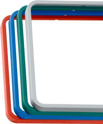 Afdekframe voor deurbord MAXI, 150 x 150 mm, 3 stuks, grijs