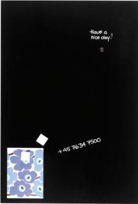 Franken Glas-Schreibtafel GT608010, magnethaftend, schwarz, 600 x 800 mm