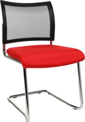 Freischwinger SEAT POINT, Netz, ohne Armlehnen, stapelbar, im 2er-Set, rot