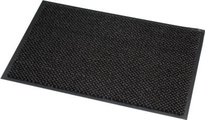 Fußmatte Mikrofaser, B 1200 x L 2400 mm, waschbar bei 30 Grad, grau