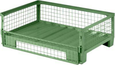 Gaasboxpallets halfhoog  G1284 S-l gelakt RAL6011