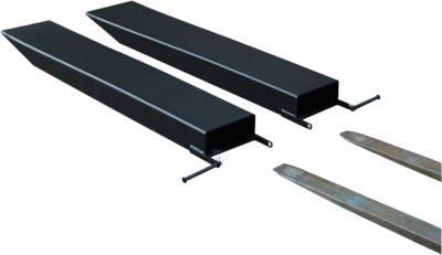 Gabelverlängerung für Flurförderzeuge, offene Ausführung, L 1600 x B 150 x 70 mm, schwarz