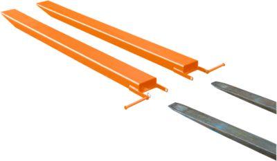 Gabelverlängerung für Flurförderzeuge, offene Ausführung, L 1800 x B 80 x 40 mm, orange
