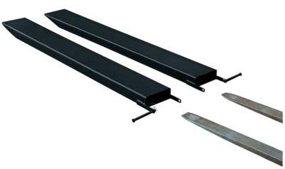 Gabelverlängerung für Flurförderzeuge, offene Ausführung, L 2000 x B 125 x 45 mm, schwarz
