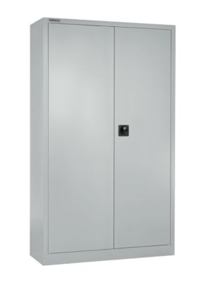 Garderobekast MS iCONOMY, staal, middenwand, b 950 x d 400 x h 1935 mm, aluwit RAL 9006