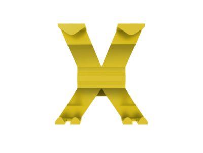 Garderobenhaken WGX, B 145 x T 157 x H 175 mm, Feinstruktur, recyceltes Aluminium, gelb