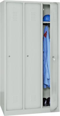 Garderobenschrank 3 Tür. lichtgrau