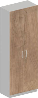 Garderobenschrank TETRIS SOLID, 6 OH, B 800 x T 421 x H 2239 mm, Kirsche Romana-Dekor/weißalu