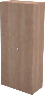 Garderobenschrank TETRIS WALL, 1 Fachboden, Türanschlag rechts, B 800 x T 440 x H 1880 mm, Kirsche Romana-Dekor