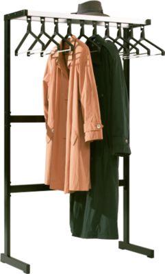 Garderoberek, 10 kleerhangers, hoedenplank