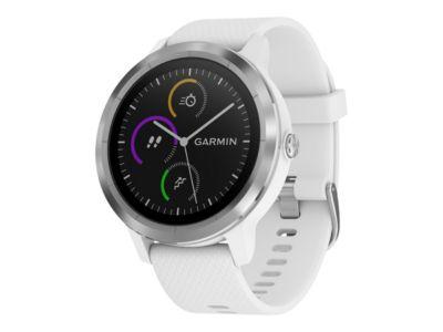 Garmin vívoactive 3 - Edelstahl - intelligente Uhr mit Band - weiß