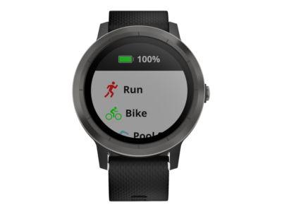 Garmin vívoactive 3 - Waffenmetall - intelligente Uhr mit Band - schwarz