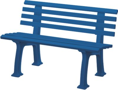 Gartenbank, 2-Sitzer, L 1200 mm, blau