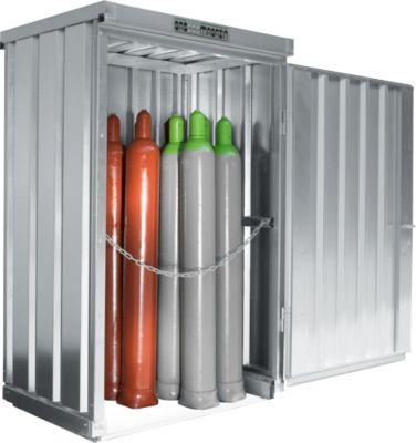 Gasflessendepot SAFE LIF GM 114, m. bodemframe en verzinkt rooster