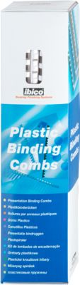 GBC® Binderücken, Plastik, Ø 8 mm, 100 Stück, weiß