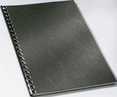GBC® bindomslagen LeatherGrain, A4 formaat , 250 g/m², 100 stuks, zwart