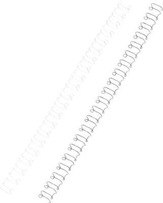GBC® MultiBind draadruggen, 21 ringen, Ø 8 mm, metalen, 100 stuks, wit
