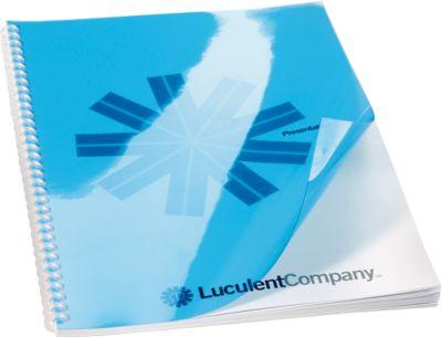 GBC Poly Cover-dekbladen, voor achterkant, blauw