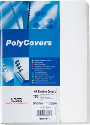 GBC Poly Cover-dekbladen, voor achterkant, wit