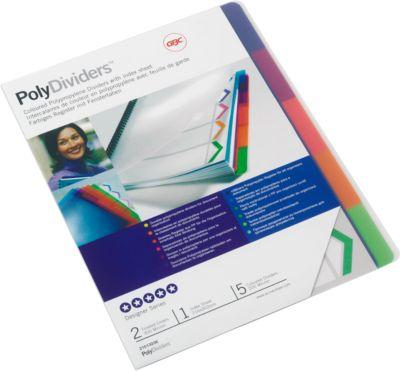GBC Tabbladen PolyDividers pak van 5 stuks