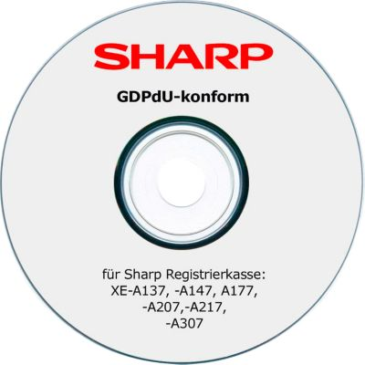 GDPdU Konvertierungs-Software, für Sharp XE-A-Kassenmodelle