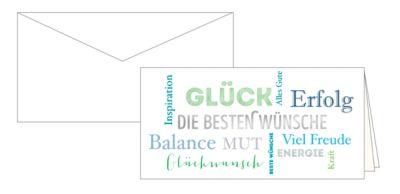 Geburtstagskarte Glückwunschkarte Grußkarte Die besten Wünsche, 10er-Set