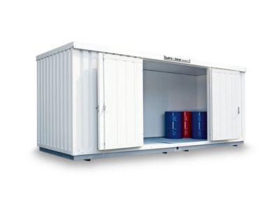 Gefahrstoffcontainer SAFE Tank 1000 KTC, isoliert, RAL 9002 grauweiß, B 3050 x T 2170