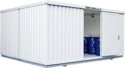 Gefahrstoffcontainer SAFE Tank 2000, isoliert, RAL 9002 grauweiß, B 3050 x T 4340 x H 2520 mm