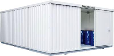 Gefahrstoffcontainer SAFE Tank 3000, isoliert, RAL 9002 grauweiß, B 3050 x T 6520 x H 2520 mm