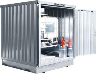 Gefahrstoffcontainer SAFE Tank 400 KTC, verzinkt, B 2100 x T 2170 x H 2400 mm, bis 1 x 1000 l IBC