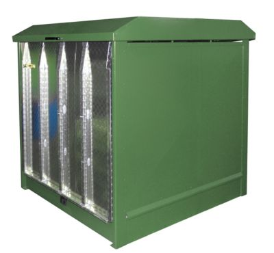 Gefahrstoffdepot Typ GD-N/R4, grün RAL6011