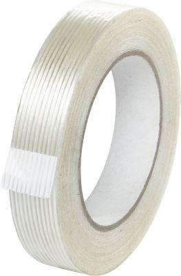 Gefiltreerde kleefband, glasvezelversterkt, bijzonder scheurvast, W 25 mm