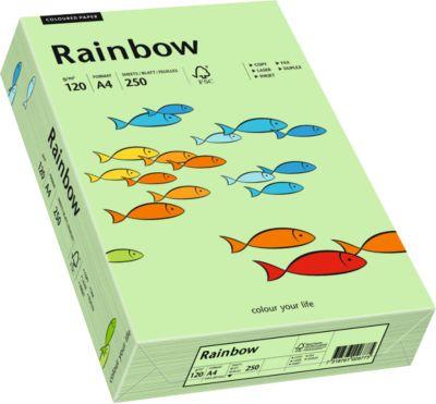 Gekleurd kopieerpapier Mondi Rainbow, DIN A4, 120 g/m², medium groen, 1 verpakking = 250 vel