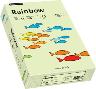 Gekleurd kopieerpapier Mondi Rainbow, DIN A4, 80 g/m², licht groen, 1 verpakking = 500 vel