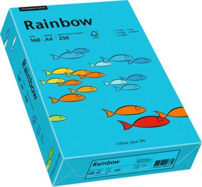 Gekleurd kopieerpapier Mondi Regenboog, DIN A4, 160 g/m², blauw, 1 verpakking = 250 vel