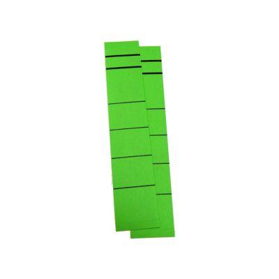 Gekleurde zelfklevende etiketten voor ordners, kort, smal, groen