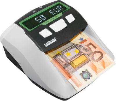 Geldscheinprüfer ratiotec® Soldi Smart Pro, EZB-Standard, EUR/CHF/GBP, 5-sprachig, Netz- oder Akkubetrieb, weiß