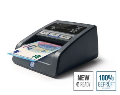 Geldscheinprüfer Safescan 155-S, EZB-Standard, EUR/CHF/GBP/PLN/HUF, Menge/Summe, schwarz