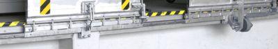 Geleiderail, voor aluminium aandrijfbruggen van het type SKB, gefreesd en afgewerkt met aluminium.