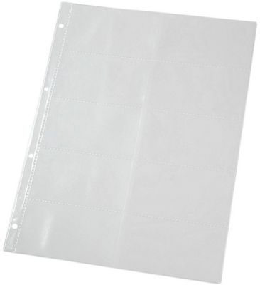 Geperforeerde hoezen voor visitekaartjeshoezen, A4 formaat, 4-gaats-perforatie