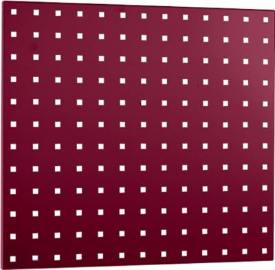 Geperforeerde plaat 495 x 457 mm, purperrood RAL 3004