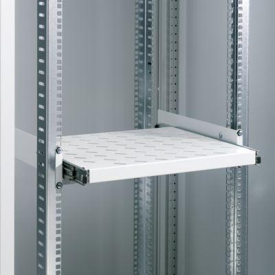 Geräteboden, für Server-Schrank, ausziehbar, 2 HE x 400 mm (19