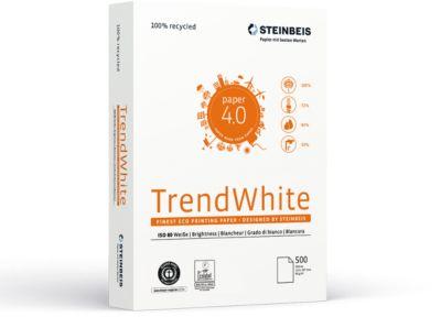 Gerecycleerd papier Steinbeis TrendWhite, DIN A4, 80 g/m², perswit, 10 x 500 vel, 10 x 500 vel