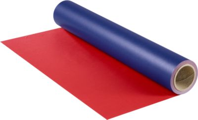Geschenkpapier op rol, aan 2 zijden gekleurd, 20 meter, blauw/rood
