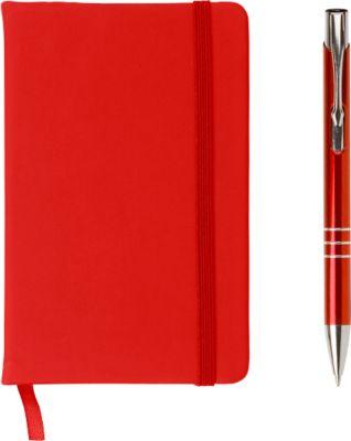 Geschenkset Comfort USB, 3-tlg., inkl. Werbedruck/Lasergravur, USB-Stick 8 GB, rot