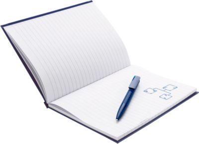 Geschenkset Notizbuch m. Stift, blau